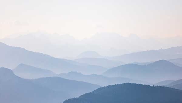 Die Chiemgauer Alpen in Pastelltönen