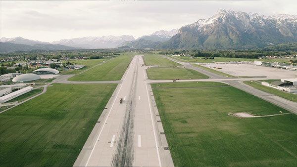 Pistensanierung des Flughafen Salzburg