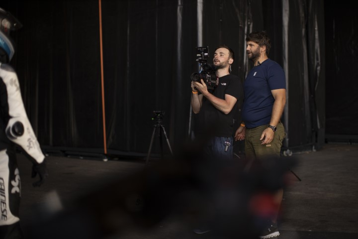 Benny und Max beim filmen