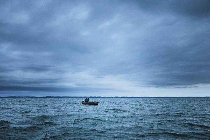 Fischer auf dem Chiemsee